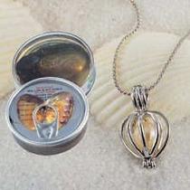 Perla Cultivada Dentro De Su Ostra + Dije Perla Natural