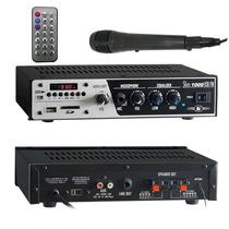 Receiver Amplificador Som Residêncial Frahm Slim 1000 + Mic