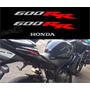 Emblema Adesivo Rabeta Honda Cbr 600rr 2005 Preta 600rr04