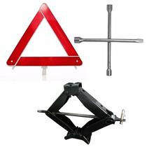 Macaco Tipo Sanfona + Chave De Roda E Triangulo