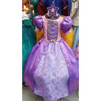 Vestido Rapunzel Princesa Regalo Tiara Estrella Nupcialesdli