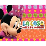 Kit Imprimible Minnie Rosa La Casa De Mickey Mouse Tarjetas
