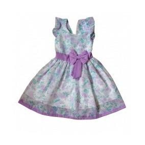 Vestido Infantil Menina Em Organza Pri Moda Baby