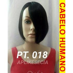 Prótese Capilar Franja Cabelo Humano Natural Preto Tic-tac