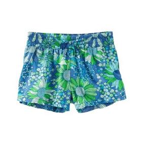 Short Printed Flowers Blue - Green Oshkosh