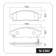 Juego Pastillas Freno X 4 Mitsubishi L200 08/19