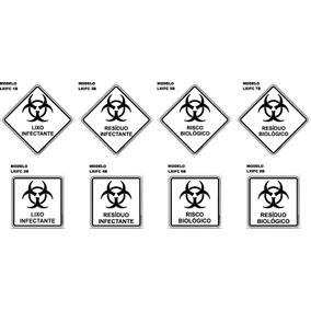 Adesivo Lixo Resíduo Infectante Risco Biológico 15 X 15 Cm