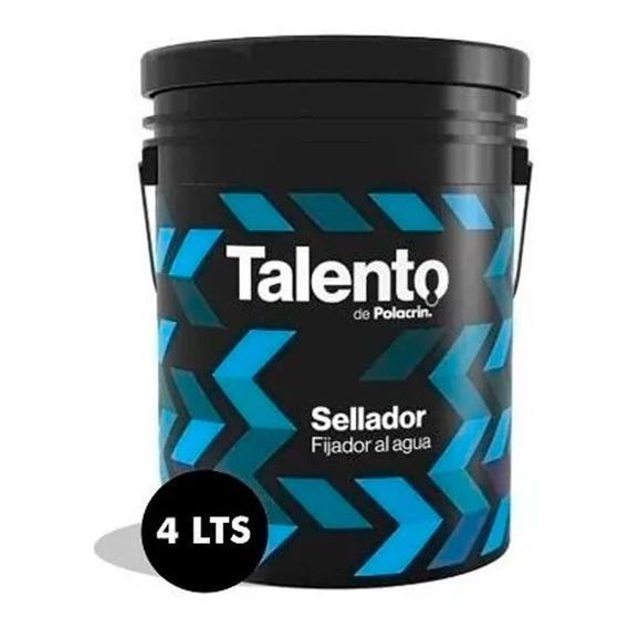 Fijador Sellador Talento Polacrin 4 Lts Promocion Obra Pared