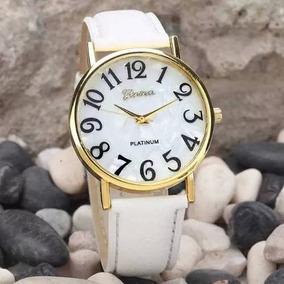 Relógio De Pulso Feminino Geneva Números Grandes