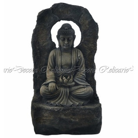 Fonte De Água C/ Escultura Buda Em Resina Belissima 220v