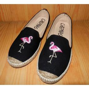 Zapatos Tipo Alpargata Flamingos Artesanales Nuevos
