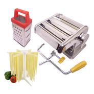 Conjunto Máquina E Varal De Massa Fresca Hauskraft Para Espaguete Talharim Fetucine Ralador Queijo - Cozinha Italiana