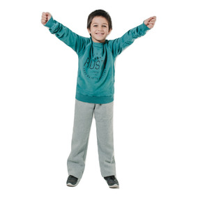 Super Outlet Sweater Rusty Peaks Para Niños Petroleo