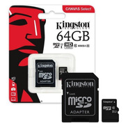 Memoria Micro Sd Xc 64gb Kingston Clase 10 Slot One