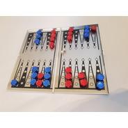 Backgammon Metalico Caja Deluxe