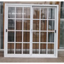 Ventana De Aluminio Blanco 1,50 X 1,50 Mts Vidrio Repartido
