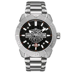 Reloj Harley Davidson By Bulova Para Hombre Original 76b169