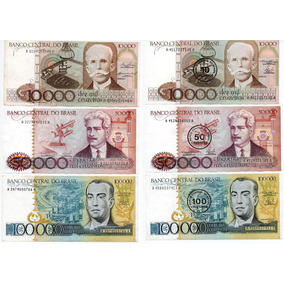 Raridade Nota Antiga Dinheiro 6 Cédulas Cruzeiro Cruzado