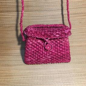 Bolsa De Palha Personalizada Baú Mini - Pink