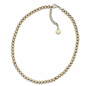 Collar Tommy Hilfiger 2700793 Cadena Con Esferas Acero Gold