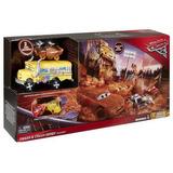 Pista Choques Locos Cars 3rayo Macqueen Carros Dxy95 Mattel