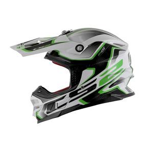 Capacete Ls2 Mx456 Compass/branco/verde