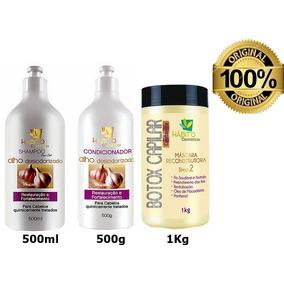 Kit Hidratação Profissional Pós Química Alho+másc Botox 1kg