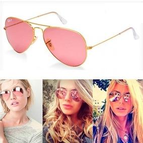 Oculos Rose Espelhado Aviador Feminino - Óculos no Mercado Livre Brasil 68be3f4e65