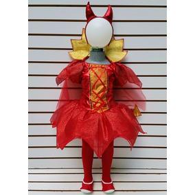 Disfraz Niña Tallas 10 Años Diabla Vestido Mallas Hallowen