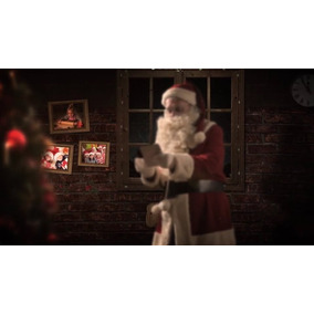 Projeto Editável Natal After Efefcts Santa Claus In The New