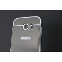 Samsung Galaxy S7 Bumper De Aluminio Acabado Espejo - Gris