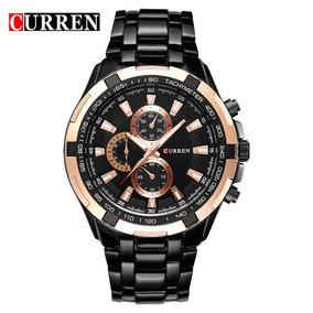 Leilão Relógio Curren Masculino Marca De Luxo Frete Grátis