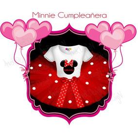 Remera Y Tutu Cumpleañera Personalizada Minnie Mouse Disfraz