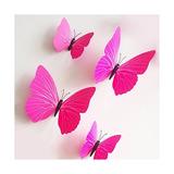 Mariposa Rosada Etiquetas Engomadas Diy Del Arte Mural Decal