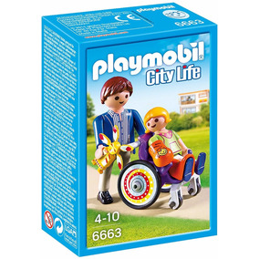 Playmobil 6663 - Criança Em Cadeira De Rodas Na Cx