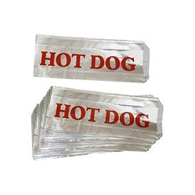 Bolsas 75pc Hot Dog Comida Rapida Con Papel Aluminio Impreso