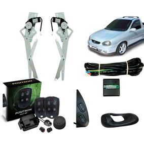 Kit Vidro Elétrico Corsa Pick-up + Alarme Pósitron Ex 360
