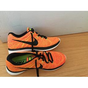 half off b66f5 2f571 Zapatillas Nike Flyknit Lunar 3 Naranja T 8.5 Sin Uso