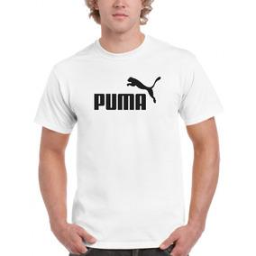 Camiseta Algodão Puma Masculina Branca Showplus Pp Ao G5