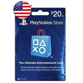 Tarjeta Playstation 20 Dolar Ps4 Ps3 Gift Card Americana