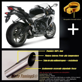 Ponteira Esportiva Gsxr Srad 1000 (( Inox + Potencia )) 2016