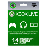 Xbox Live Gold Trial 14 Días Código Digital