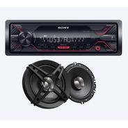 Paquete Auto Estereo Sony Dsx-a110u Con Bocinas Sony 6.5