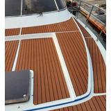 Deck Autoadhesivo Simil Madera P/ Barcos Cruceros Y Lanchas