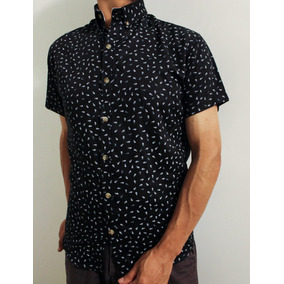 Camisa Provoque Estampada Casual Juvenil Tailored Fit Moda