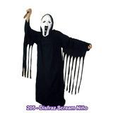 Disfraz Scream Niños 4 A 10 Años - Tunica Terror Halloween