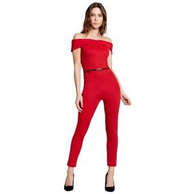 Palaxo 77755 Rojo Body Enterizo Moda Nacional Talla Extra