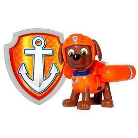 Brinquedo Boneco Zuma Patrulha Canina Kit Ação Distintivo