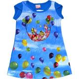 Lindo Vestido Céu De Balões - Alenice - 100% Algodão