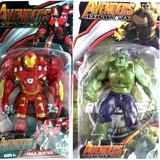 Boneco Homem De Ferro Hulkbuster E O Hulk Kit 2 Bonecos